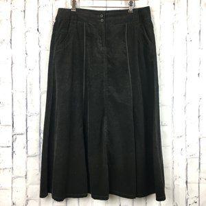 CAbi Flare Skirt Fine Knit Corduroy Sz 12